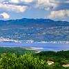 Wide panoramic view of Adriatic sea in Croatia