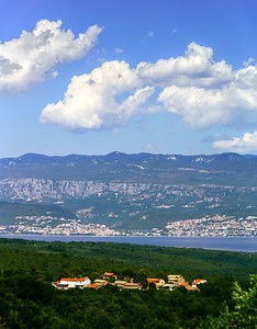 Beautiful natural landscape, Mountains and sea, Croatia