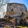 Ruins of old medieval castle Spesbourg, France