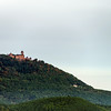 Majestic medieval castle Haut-Koenigsbourg on the top of the hill