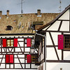 Typical timber-framing old house in Alsace, France