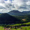 Majestic overview to the beautiful valley from the top of the hill, Alsace