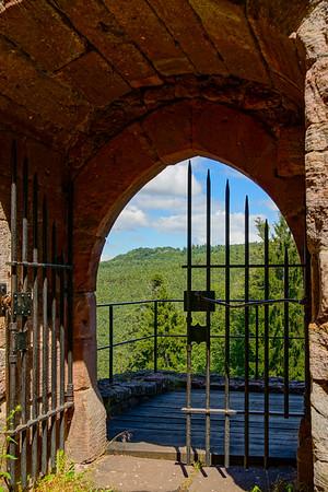 Majestic ruins of medieval castle Birkenfels, Alsace, France