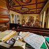 Beautiful old pipe organ in catholic church