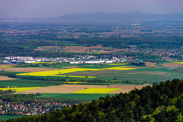 Panoramic view from high point to the valley