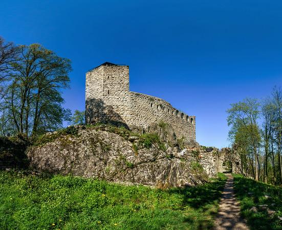 Ruins of old medieval castle Bernstein, Alsace