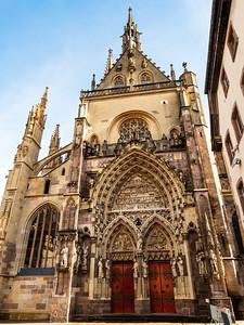 St Theobald's Church, Thann Medieval Catholic Church in Alsace. Exterior