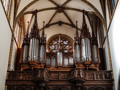 St Theobald's Church, Thann Medieval Catholic Church in Alsace. Majestic Interior.