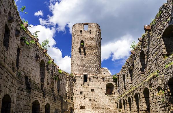 Medieval castle Andlau in Alsace