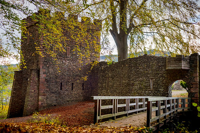 Old medieval castle Schirmeck, colorful autumnal view