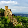 High resolution panoramic view of medieval castle Girsberg