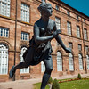 Rohan's Palace in Saverne, Alsace. Summer sunny day. Tourism and travel.
