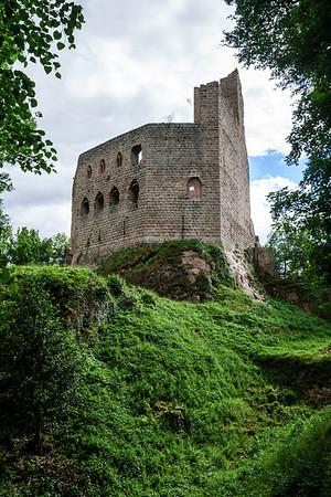 Medieval castle Spesbourg in Alsace