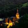 Majestic old church in small french village Andlau