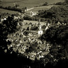 Overview to the little french village, retro style photography