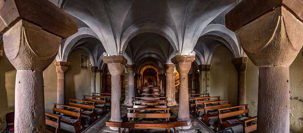 St,Peter and St.Paul abbey church interior, Andlau, Alsace