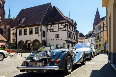 Selestat old city street view, Alsace, France