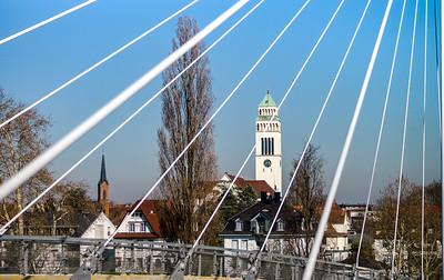 St.Johannes Nepomuk church in little german city Kehl, Germany