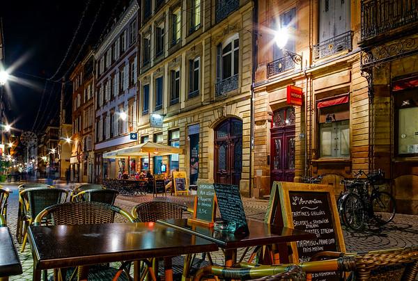 Editorial: 19th November 2016: Strasbourg, France. Night street view