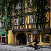 Atmospheric side streets of the old city in Strasbourg, keeping the history of the Middle Ages