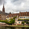 Strasbourg panoramic view. Cathedral and river quay.