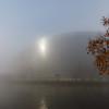 Strasbourg, France - December 18, 2018: Parliament European in the fog