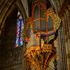 Majestic Strasbourg cathedral interior, golden decor