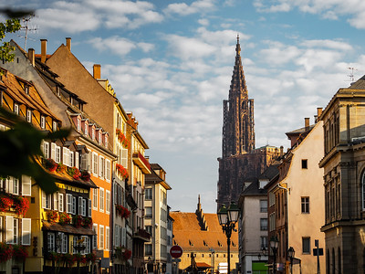 Strasbourg's majestic cathedral rises above the city.