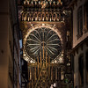 Closeup night view of gothic details of Cathedral in Strasbourg