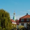 Russian orthodox church in Strasbourg, sunny weather