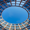 Inner round well-yard of the European Parliament in Strasbourg