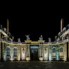 Rohan Palace panoramic night view, Strasbourg, Alsace, France