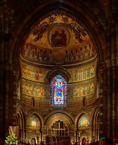 Majestic Strasbourg cathedral interior, golden decor