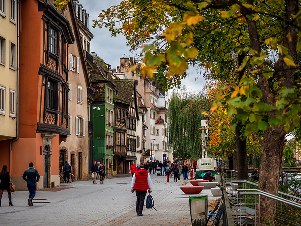 Autumnal Strasbourg street view, travel and tourism