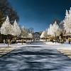 Beautiful public park near Orangery of Strasbourg