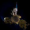 Saint Maurice Church night  view in panoramic sphere style, Strasbourg, France