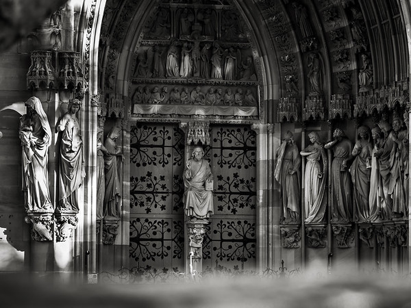 Stunning sculptural church portal from Strasbourg.Protestant Church of St. Peter the Younger.