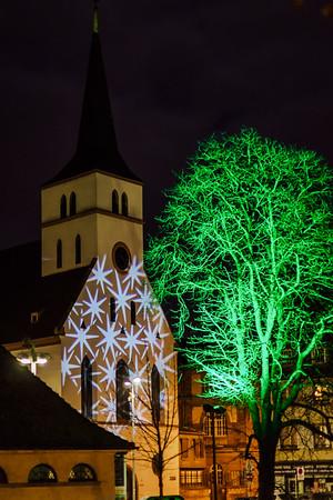 Beautiful night view of Strasbourg, France