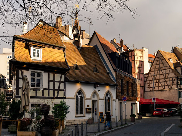Old historic half-timbered house in the center of Strasbourg