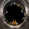 Reformed Church Saint Paul night  view in panoramic sphere style, Strasbourg, France
