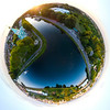 Little planet panoramic aerial view, Strasbourg.