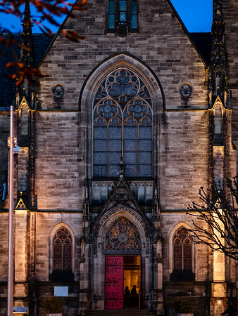 Beautiful gothic Saint-Maurice church in Strasbourg