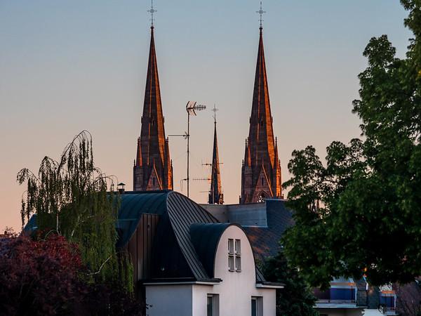 Traditional touristic view of Strasbourg. Postcard for touristes.