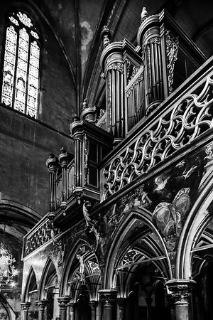 Protestant Church of St. Peter the Younger, interior view, Strasbourg