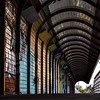 Graffiti-painted footbridge perspective