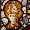 An element of an old medieval stained glass window made in France
