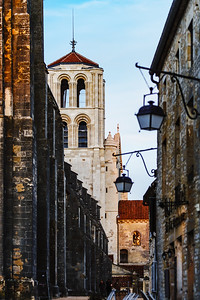Basilique in Vezelay, sunset time, Bourgogne, France