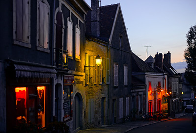 Editorial: 8th March 2018: Vezelay, France. Street view,sunset time