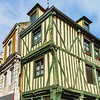 Window renovation with saving traditional style of buildings, France
