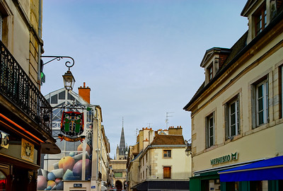 Editorial: 9th March 2018: Dijon, France. Street view, sunny day